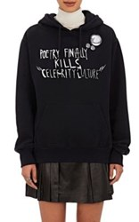 Each X Other Women's Graphic Cotton Hoodie Black