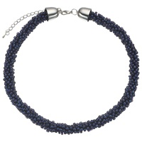 John Lewis Twisted Bead Necklace Navy