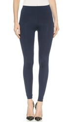 David Lerner Classic High Rise Leggings Navy