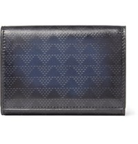 Berluti Imbuia Pythagora Patterned Leather Bifold Cardholder Blue