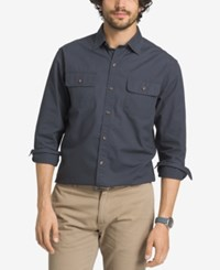 G.H. Bass And Co. Men's Essential Long Sleeve Shirt India Ink