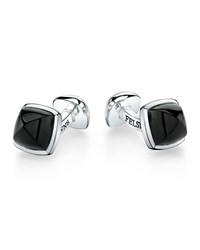 Sterling Silver Sugarloaf Cuff Links Onyx Men's Suzanne Felsen