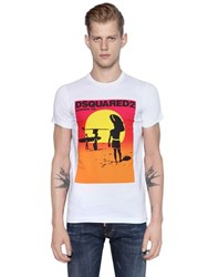 Dsquared2 Sexy Slim Surfing Cotton Jersey T Shirt