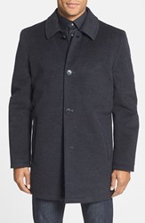 Men's Vince Camuto Water Repellent Wool Blend Car Coat Charcoal