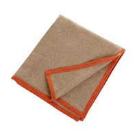 Oyuna Arte Throw Taupe With Orange