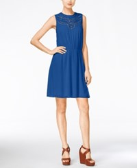 Maison Jules Cinched Waist Sleeveless Dress Only At Macy's Lazulite
