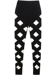 Balmain Cut Out Detail Leggings Black