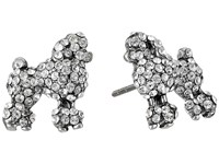 Marc Jacobs Charms Paradise Mini Poodle Studs Earrings Crystal Antique Silver Earring
