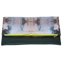 Crush Works Fifteen Envelope Clutch Teal