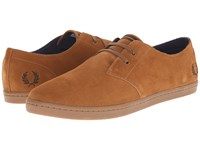 Fred Perry Byron Low Suede Ginger Dark Chocolate Men's Shoes Tan