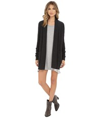 Splendid Dune Cardigan Heather Charcoal Women's Sweater Gray