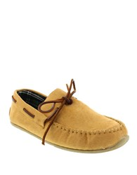 Deer Stags Fudd Loafer Moccasins Tan