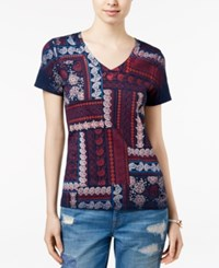 Tommy Hilfiger Bedford Printed T Shirt Core Navy