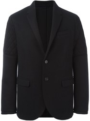 Neil Barrett Quilted Detail Blazer Black