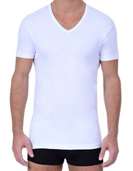 2Xist 3 Pack Essential Slim Fit V Neck T Shirt White