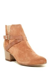 Manas Design Embossed Buckle Strap Bootie Brown
