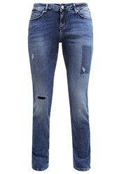Mustang Jasmin Slim Fit Jeans Authentic Used Destroyed Denim