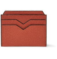 Valextra Pebble Grain Leather Cardholder Brick