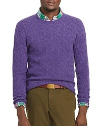 Polo Ralph Lauren Cashmere Cable Knit Sweater Violet Heather