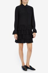 Paul Joe Women S Alienor Silk Ruffle Dress Boutique1 Black