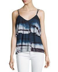 Nanette Nanette Lepore Layered Tie Dye V Neck Tank Moon Wash
