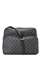 Wgaca Louis Vuitton Damier Graphite Ieoh Bag Previously Owned Black