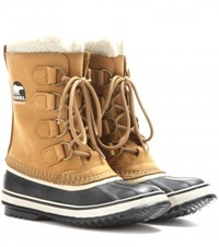 Sorel 1964 Pac 2 Leather And Rubber Boots Beige