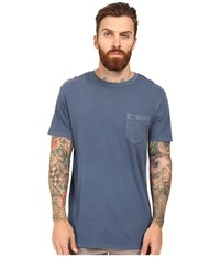 Rvca Ptc 2 Pigment Knit Tee Dark Denim Men's T Shirt Navy