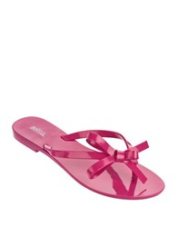 Melissa Harmonicx Jelly Bow Sandals Fuschia