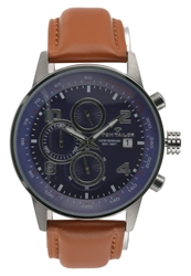 Tom Tailor Chronograph Watch Silber Braun Silver