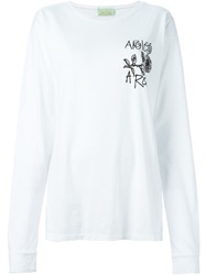 Aries 'Aries Rose' T Shirt White