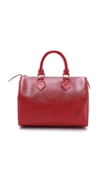 Wgaca Louis Vuitton Epi Speedy 25 Bag Red