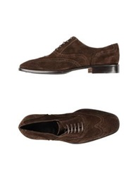 Gold Brothers Lace Up Shoes Dark Brown