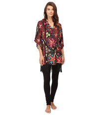 Josie Quilted Mojave Wrap With Fringe Black Multi Women's Pajama