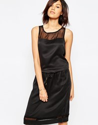 Gestuz Anni Tie Waist Dress Black