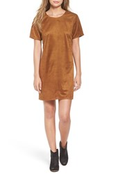 One Clothing Women's Faux Suede Shift Dress