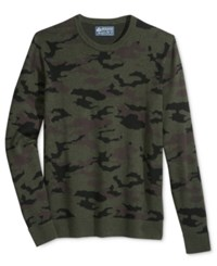 American Rag Men's Camo Print Sweater Only At Macy's Forest Night