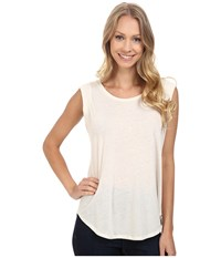 Bobeau Iris Muscle T Shirt Ivory Women's Short Sleeve Pullover White