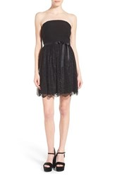 Junior Women's Speechless Strapless Lace Party Dress