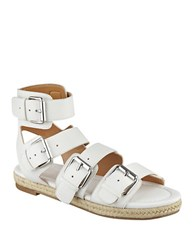 Kendall Kylie Jackie Gladiator Sandals White