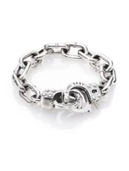 King Baby Studio Handcuff Clasp Bracelet Silver