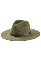 Rag And Bone Wool Wide Brim Fedora Grey