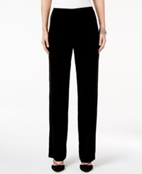 Alfani Petite Velvet Pull On Pants Only At Macy's Deep Black