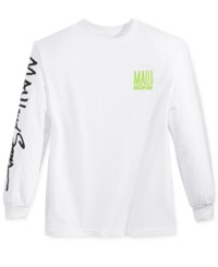 Maui And Sons Men's Fish Out Of Water Logo T Shirt White
