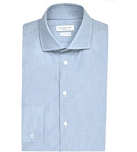 Richard James Contemporary Fit Striped Cotton Shirt Sky