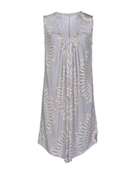 Alpha Massimo Rebecchi Short Dresses Light Grey