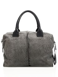 Cnc Costume National Textured Leather Duffle Bag Grey