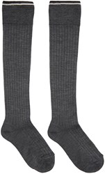 Isabel Marant Grey Silk Zina Socks