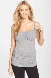 Cake 'Gelato' Shirred Nursing Tank Heather Grey