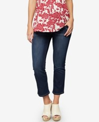 A Pea In The Pod Maternity Dark Wash Cropped Skinny Jeans